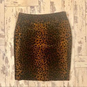 Rafaella animal print velvet skirt , size 8